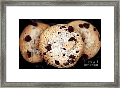 Chocolate Chip Cookies Framed Print by John Rizzuto