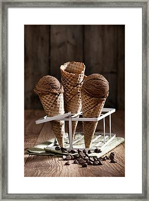 Chocolate Chip Ice Creams Framed Print by Amanda Elwell