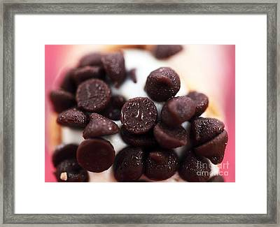 Chocolate Chips Framed Print by John Rizzuto
