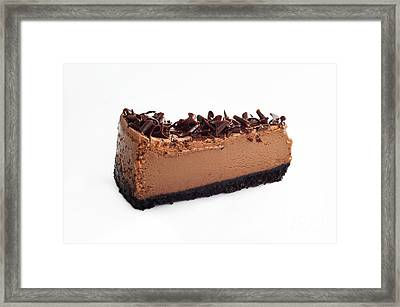 Chocolate Chocolate Cheesecake - Dessert - Baker - Kitchen Framed Print by Andee Design