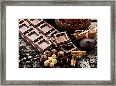 Chocolate Framed Print by Cole Black