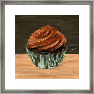 Chocolate Cupcake Framed Print by Lourry Legarde