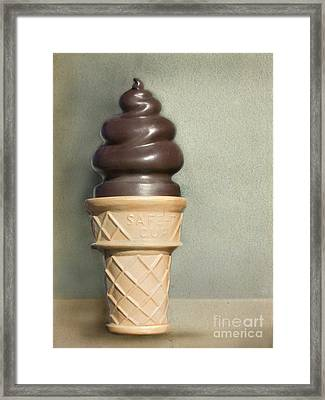 Chocolate Dipped Cone Framed Print