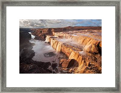 Chocolate Falls Framed Print by Guy Schmickle