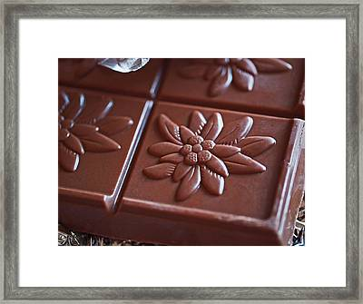 Chocolate Flower  Framed Print