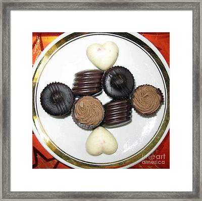 Chocolate For Two Framed Print by Ausra Huntington nee Paulauskaite