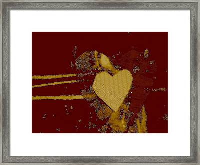 Chocolate-heart Framed Print by Dorothy Rafferty