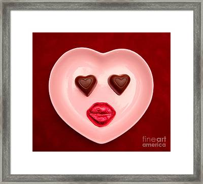 Chocolate Heart Face Framed Print