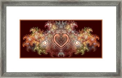Chocolate Heart Framed Print by Svetlana Nikolova