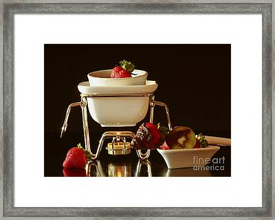 Chocolate Heaven - Fondue Bliss  Framed Print