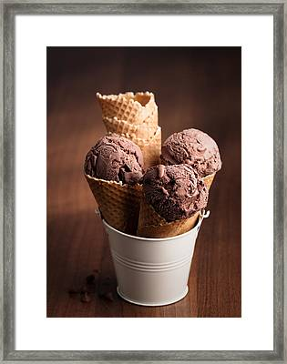 Chocolate Ice Cream Framed Print