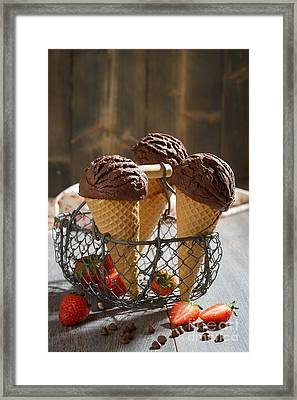 Chocolate Ices Framed Print by Amanda Elwell