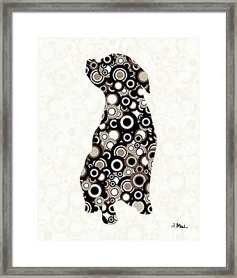 Chocolate Lab - Animal Art Framed Print