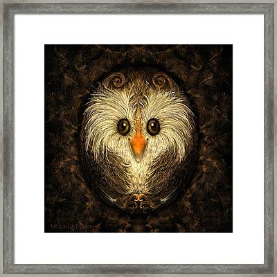 Chocolate Nested Easter Owl Framed Print