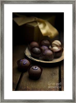 Chocolate Pralines Framed Print by Jaroslaw Blaminsky