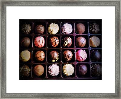 Chocolate Really Is Art Framed Print by Denisse Del Mar Guevara