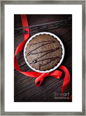 Chocolate Souffle Framed Print by Mythja  Photography