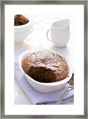 Chocolate Sponge Pudding Framed Print