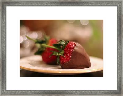 Chocolate Strawberries Framed Print