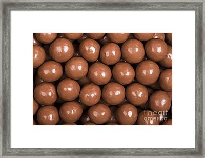 Chocolate Sweet Background Framed Print by Jane Rix