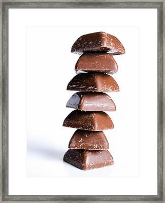 Chocolate Tower Framed Print by Sinisa Botas