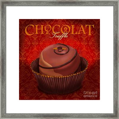 Chocolate Truffle Framed Print