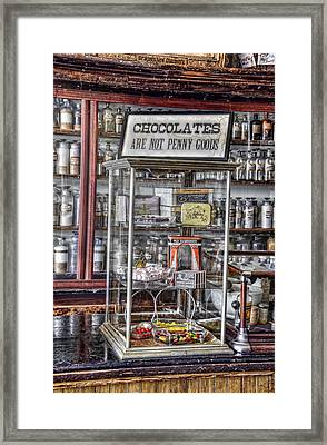 Chocolates Are Not Penny Goods Framed Print by Ken Smith