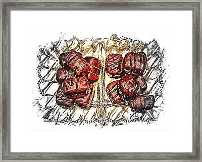 Chocolates - Illustration - Dish - Candy Framed Print