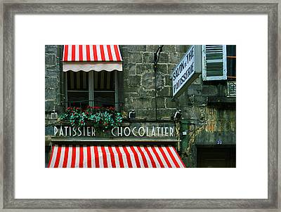 Chocolatier In Clermont Ferrand France  Framed Print