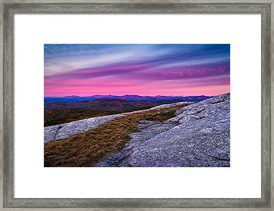 Chocorua Alpenglow Foss Mountain Eaton Nh Framed Print