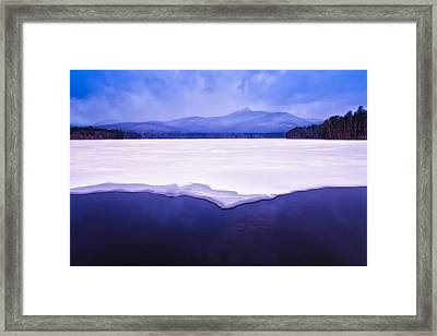 Chocorua Reflected In Ice And Snow Framed Print by Jeff Sinon