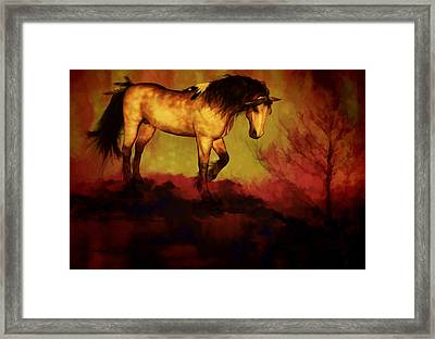 Framed Print featuring the painting Choctaw Ridge by Valerie Anne Kelly