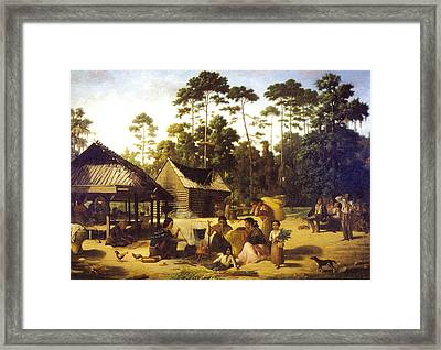 Choctaw Village Framed Print