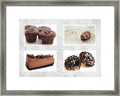 Choice Of Chocolate 4 X 4 Collage 1 - Bakery Sweets Shoppe Framed Print by Andee Design