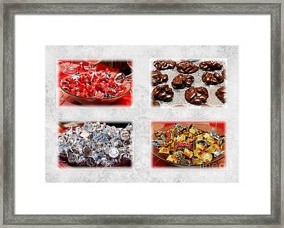 Choice Of Chocolate 4 X 4 Collage 2 - Sweets - Candy Shoppe Framed Print by Andee Design