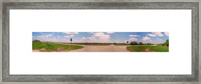 Choices At The Cross Roads Panorama Framed Print by Thomas Woolworth