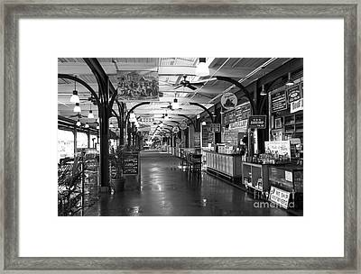 Choices At The French Market Mono Framed Print