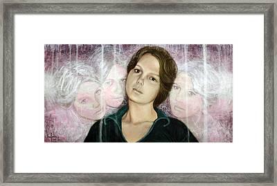 Choices Portrait Of Eva Lynn Horton Framed Print