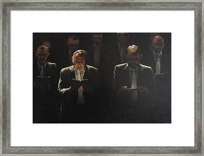Choir Self Portrait Framed Print by Clive Holden