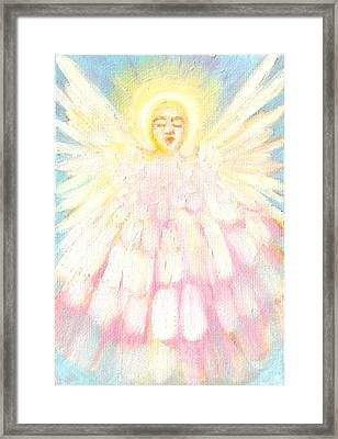 Choiring Angel Framed Print by Anne Cameron Cutri