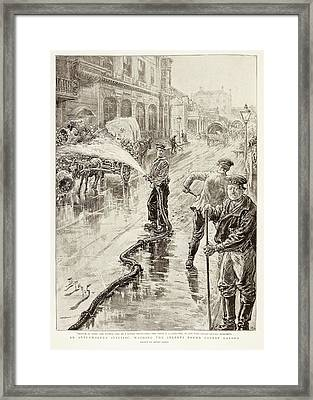 Cholera Control Framed Print by British Library