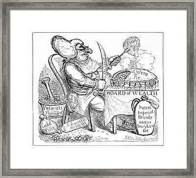 Cholera Doctor, Satirical Artwork Framed Print