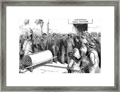Cholera Epidemic In Naples Framed Print