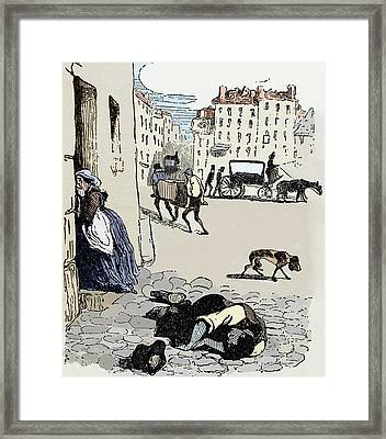 Cholera In Paris Framed Print by Sheila Terry