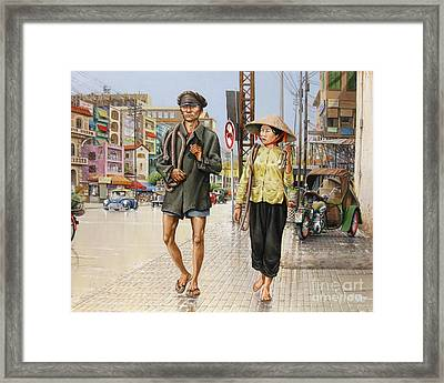 Framed Print featuring the painting Cholon '66 by Bob  George