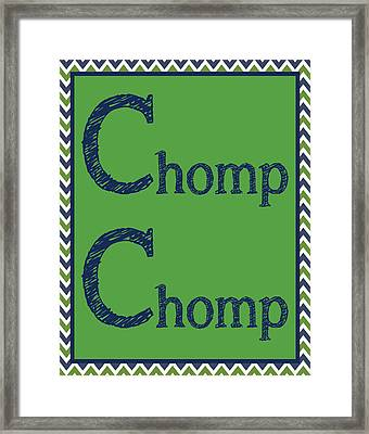 Chomp Chomp Framed Print by Jaime Friedman