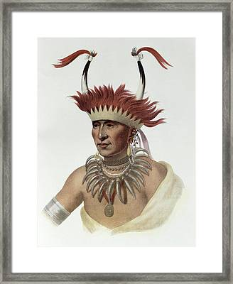 Chon-mon-i-case Or Lietan, An Oto Half-chief, 1821, Illustration From The Indian Tribes Of North Framed Print