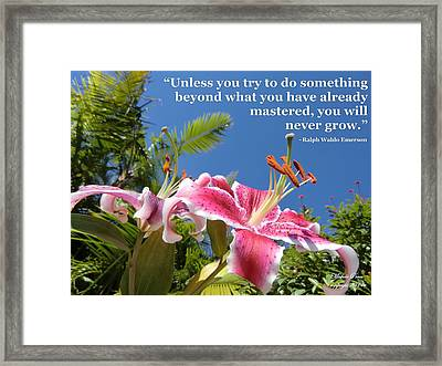 Choose Your Quote Choose Your Picture 18 Framed Print