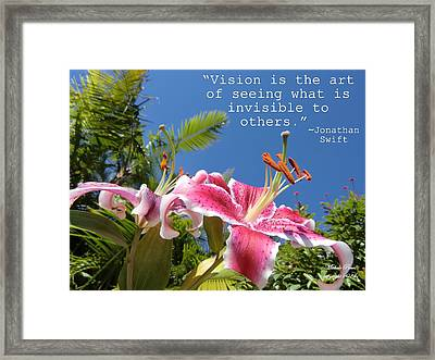Choose Your Quote Choose Your Picture 19 Framed Print