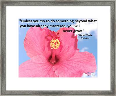 Choose Your Quote Choose Your Picture 5 Framed Print